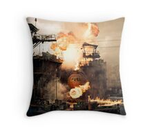 Explosive Moment Throw Pillow