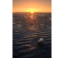 Clamshell Sunset Photographic Print