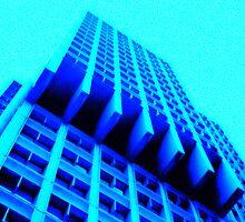 Blue Crazy Building by Cyn Piromalli