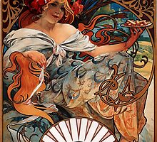 'Biscuits Lefevre-Utile' by Alphonse Mucha (Reproduction) by Roz Abellera Art Gallery