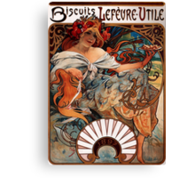 'Biscuits Lefevre-Utile' by Alphonse Mucha (Reproduction) Canvas Print