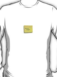 post-it note t-shirt T-Shirt