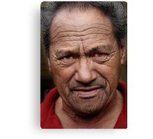 Maori elder Canvas Print