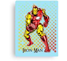 Iron Man, Vintage Cartoon Super Hero Canvas Print