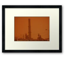 0225 - HDR Panorama - Storm and Stacks Framed Print