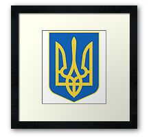 Coat of arms of Ukraine Framed Print