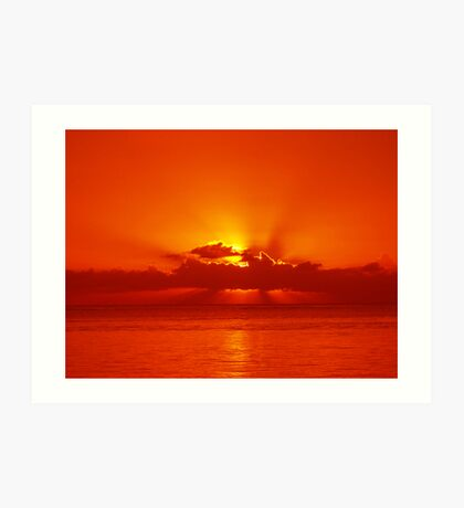 Sunset Trou Aux Biches Art Print