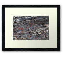 rusted rocks ii Framed Print