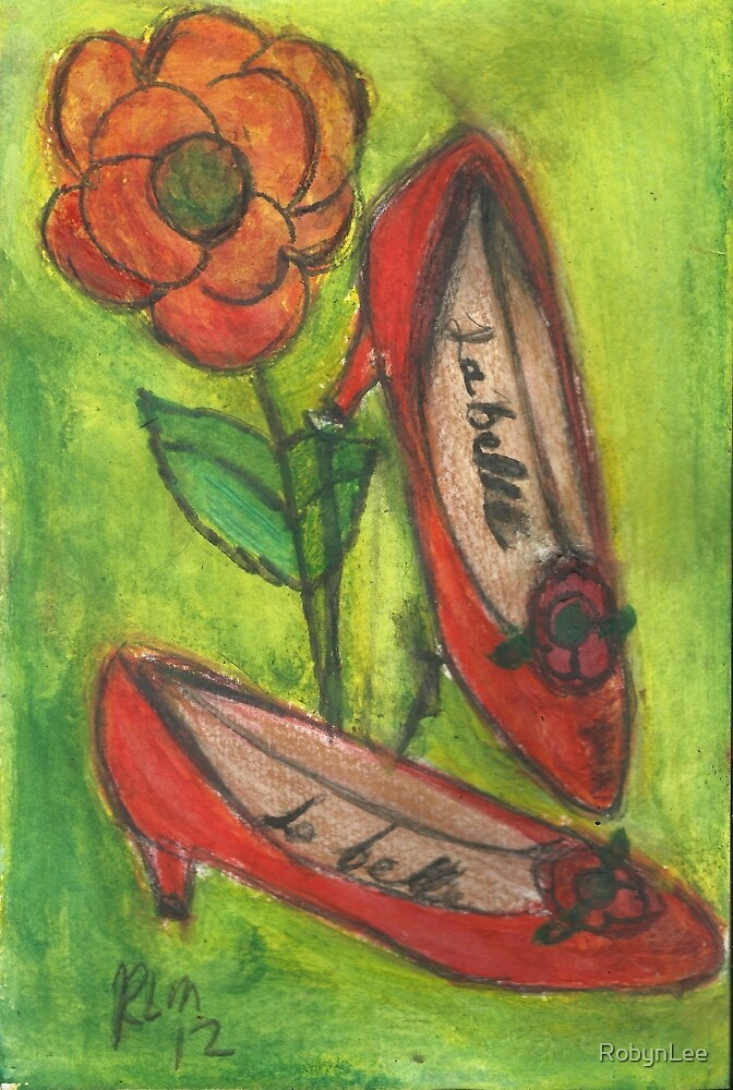 Red Shoes In The Garden by RobynLee