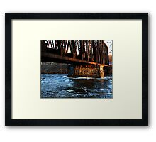 0258 - HDR Panorama - Rail Bridge 1 Framed Print