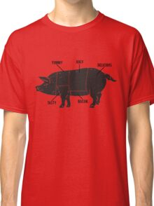 Funny Pig Butcher Chart Diagram Classic T-Shirt