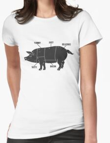 Funny Pig Butcher Chart Diagram Womens Fitted T-Shirt