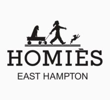 HOMIES - East Hampton - Hermes Parody (black on white) by Everett Day