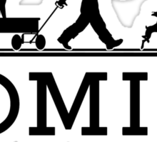 HOMIES - East Hampton - Hermes Parody (black on white) Sticker