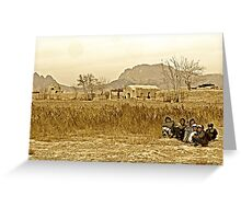 """Humanitarian Mission - Kandahar, Afghanistan"" Greeting Card"