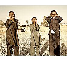 """Hear No Evil, See No Evil, Speak No Evil - Kandahar Afghanistan"" Photographic Print"