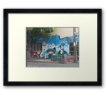 Cartoon StreetArt Melbourne Framed Print