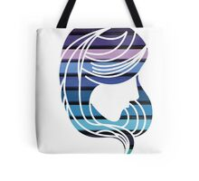I Am Cool Blue Girl Hair Chalk Colors Tote Bag