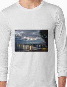 Morning at Urangan Pier Long Sleeve T-Shirt
