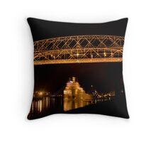 Aerial Lift Bridge Throw Pillow