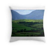 blue hills Throw Pillow