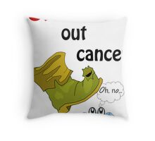 STOMP Out Cancer Throw Pillow