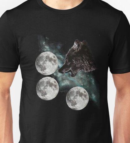 Three moon wolf Unisex T-Shirt