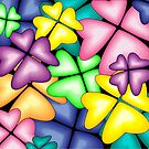 vivid heart flowers by VioDeSign