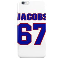 National football player Proverb Jacobs jersey 67 iPhone Case/Skin