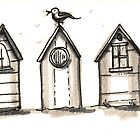 beach huts by Tracey-Anne Pryke