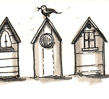 beach huts by T Pryke
