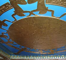 Egyptian Ceiling on Dinner Boat on Nile River by Ann Palmieri