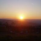 winter sunset over sheffield by brucemlong