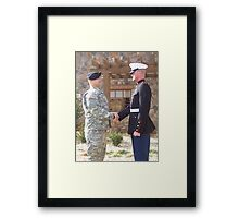 Army and Marines Unite Framed Print