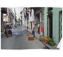 Street scene, Havana Poster