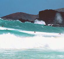 Watermen Sandy Beach Hawaii  by kevin smith  skystudiohawaii