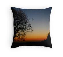 Moonlit sunset Throw Pillow