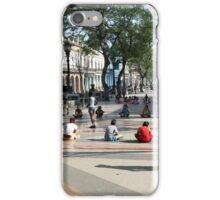 School classes in Prado, Paseo de Marti, Havana iPhone Case/Skin