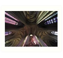 Arches, Notre Dame d'Amiens Cathedral, France Art Print