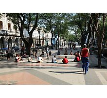 School classes in Prado, Paseo de Marti, Havana Photographic Print
