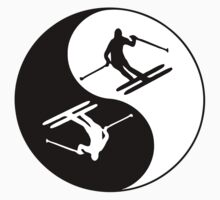 Skiing Yin and Yang   by Grobie