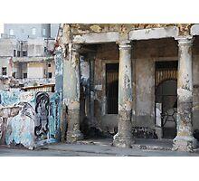 Havana buildings and graffiti Photographic Print