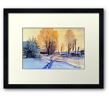 Winter light. Village. Russia Framed Print