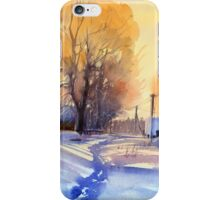 Winter light. Village. Russia iPhone Case/Skin