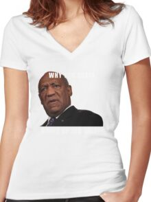 Satire, Comedy, Classic Cosby T-Shirt Women's Fitted V-Neck T-Shirt
