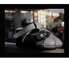 Lost Pink Baby shoe Fading From Reality Photographic Print