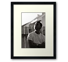 When I Look to the Sky Framed Print