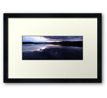 0426 - HDR Panorama - Lavender Sunset Framed Print