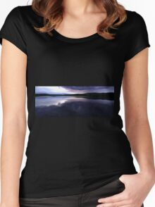 0426 - HDR Panorama - Lavender Sunset Women's Fitted Scoop T-Shirt