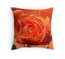 Glitter Petals - Rose Flower - NZ Throw Pillow